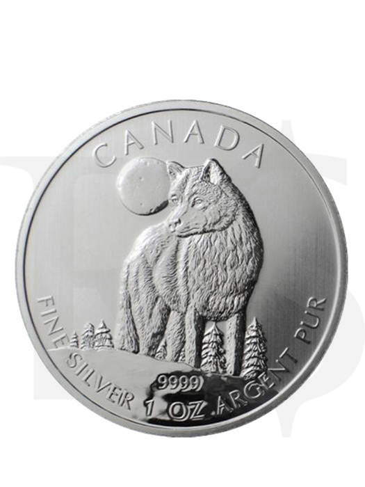 Canadian Wildlife Series: Timber Wolf 1oz Silver Coin