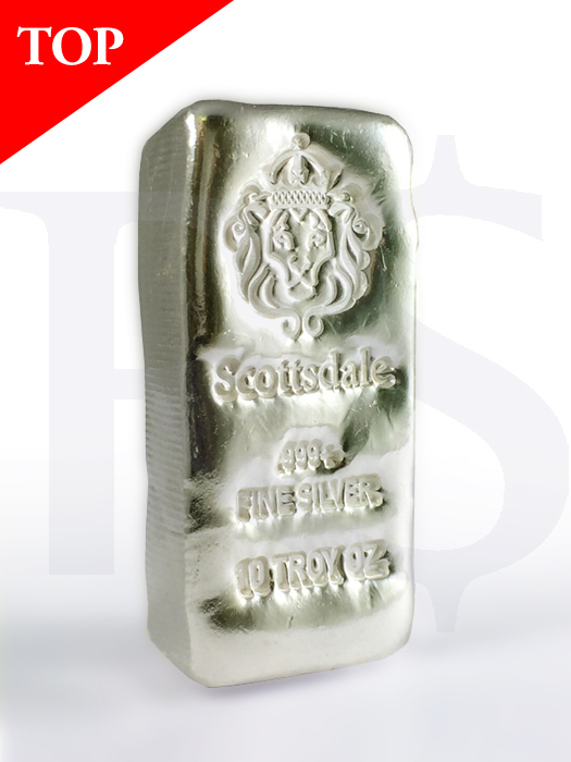 "Scottsdale ""Chunky"" 10 oz Silver Bar"