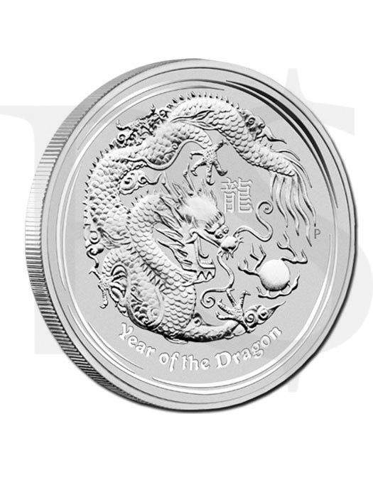 Perth Mint Lunar 2012 Dragon 1 oz Silver Coin