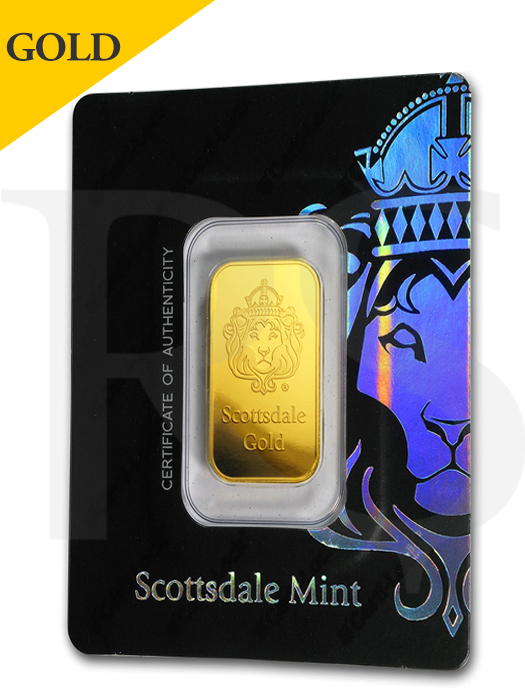 Scottsdale Certi-Lock 10 gram .9999 Gold Bar