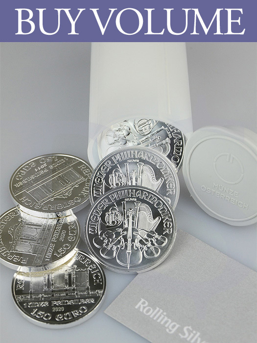 2020 Austrian Philharmonic 1 oz Silver Coin (Tube of 20)