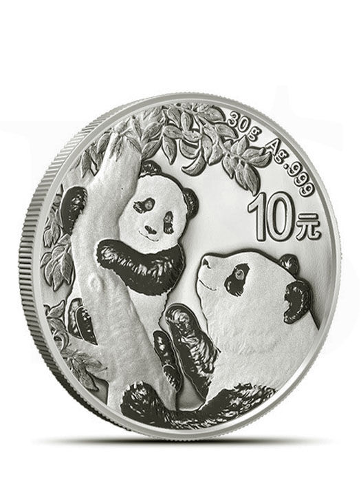2021 Chinese Panda 30 grams Silver Coin