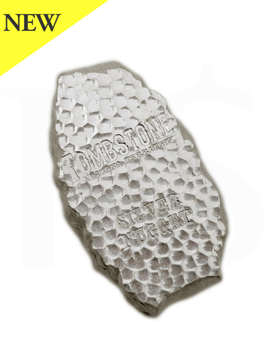 """Scottsdale """"Tombstone"""" 5oz Silver Nugget"""