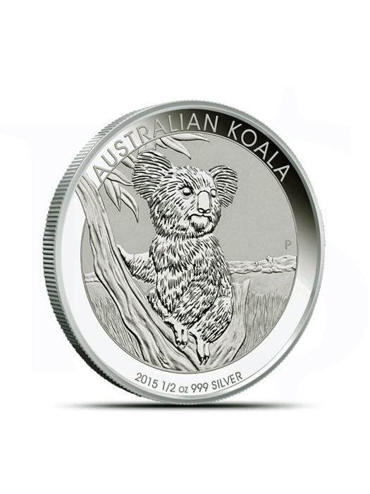 2015 Perth Mint Koala 1/2 oz Silver Coin (With Capsule)