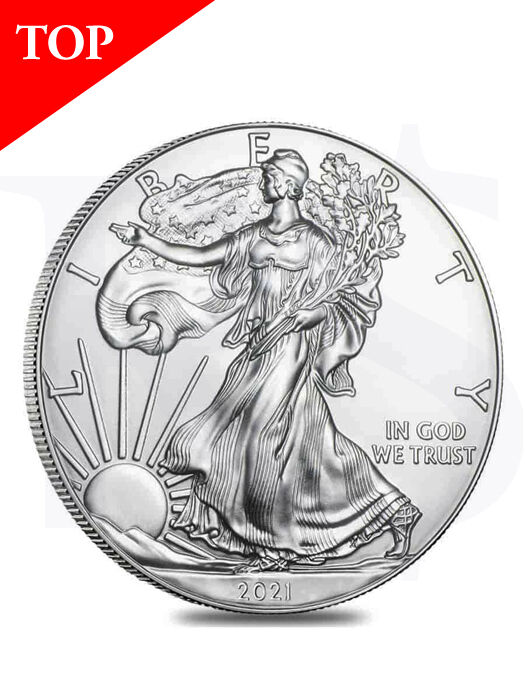 2021 American Eagle 1 oz Silver Coin (with Capsule)