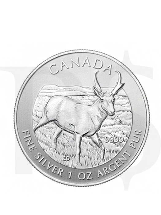 Canadian Wildlife Series: Antelope 1oz Silver Coin