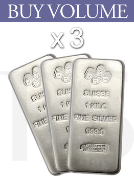 Buy Volume: 3 or more PAMP Suisse Silver Kilo Bar (With Assay Certificate)