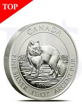 2014 Canada Arctic Fox 1.5 oz Silver Coin