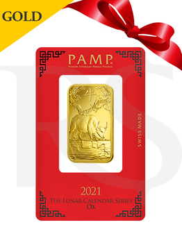 PAMP Suisse Lunar Ox 1 oz (31.1g) Gold Bar