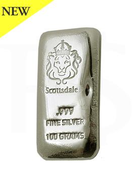 Scottsdale 100 gram Casting 999 Silver Bar