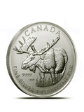 Canadian Wildlife Series: Moose 1oz Silver Coin (Capsule)