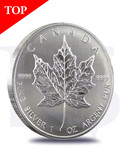 2012 Canada Maple Leaf 1 oz Silver Coin (with Capsule)