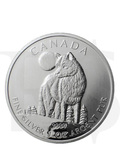 Canadian Wildlife Series: Timber Wolf 1oz Silver Coin (Capsule)