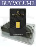 Buy Volume: Box of 25 or more Perth Mint 1 gram 999 Gold Bars