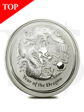 2012 Perth Mint Lunar Dragon 2 oz Silver Coin