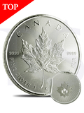 2016 Canada Maple Leaf 1 oz Silver Coin (with Capsule)