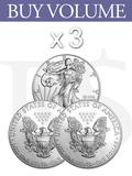 Buy Volume: 3 or more 2011 American Eagle 1 oz Silver Coin