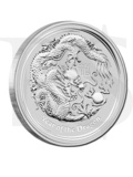 2012 Perth Mint Lunar Dragon 1 oz Silver Coin