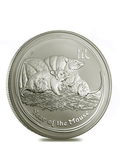 2008 Perth Mint Lunar Mouse 1 oz Silver Coin