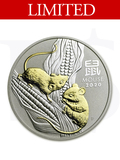 2020 Perth Mint Gold Gilded Mouse 1 oz Silver Coin (with Box)