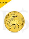 2021 Perth Mint Lunar Ox 1/10oz (3.11g) 9999 Gold Coin