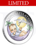 2021 Newborn Baby 1/2 oz silver Proof coin in card