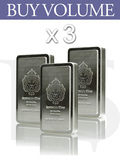 "Buy Volume: 3 or more Scottsdale ""The Stacker"" 10 oz Silver Bar"