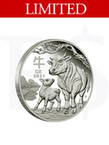2021 Perth Mint Lunar Ox 1/2oz Silver Proof Coin
