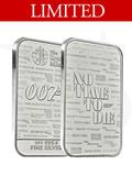 2020 Great Britain 007 James Bond 1 oz Silver Bar