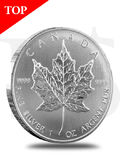 2010 Canada Maple Leaf 1 oz Silver Coin (with Capsule)
