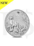 2022 Perth Mint Lunar Tiger 1/2 oz Silver Coin