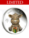 2021 Perth Mint Lunar Baby Ox 1/2oz Coloured Silver Proof Coin