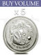 Buy Volume: 5 or more 2012 Perth Mint Lunar Dragon 2 oz Silver Coin